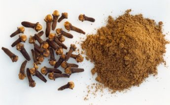 Cloves and Powdered Cloves --- Image by © Maximilian Stock Ltd/photocuisine/Corbis